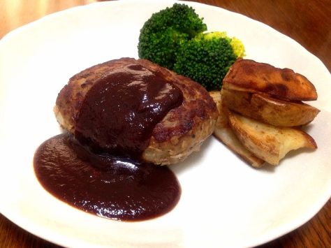 Hamburg steak is beefsteak that is shaped into a patty to be cooked after being chopped. It is closely similar to the Salisbury steak.